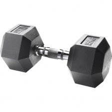 Body Sculpture Hexa Rubber Dumbbell 1x 15 kg
