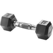 Body Sculpture Hexa Rubber Dumbbell 1x 3 kg