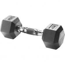 Body Sculpture Hexa Rubber Dumbbell 1x 4 kg