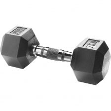 Body Sculpture Hexa Rubber Dumbbell 1x 7 kg