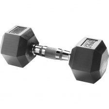 Body Sculpture Hexa Rubber Dumbbell 1x 8 kg