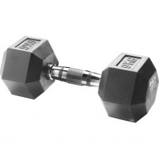 Body Sculpture Hexa Rubber Dumbbell 1x 9 kg
