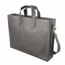 Myomy Paper Bag Business Bag - Off Black