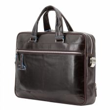 Piquadro Blue Square Organized Laptop & iPad Case - Brown