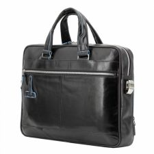 Piquadro Blue Square Organized Laptop & iPad Case - Black