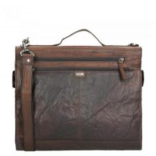 Spikes & Sparrow Bronco Business Tas Dark Brown