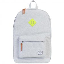 Herschel Heritage - Light Grey Crosshatch / Acid Lime