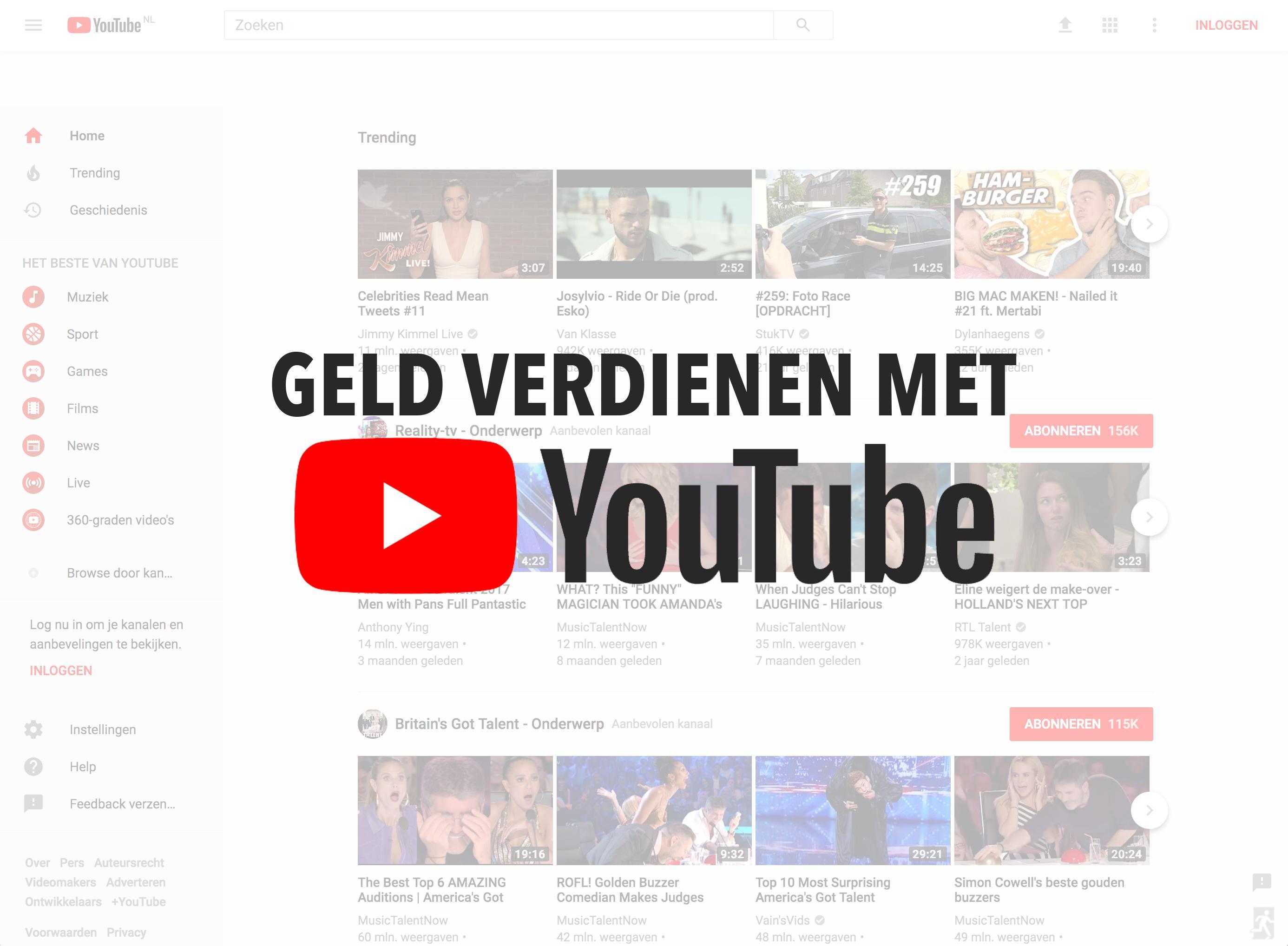 Hoeveel verdien je met 1 miljoen views op YouTube?